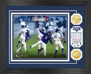 Los Angeles Dodgers 2020 NL Champions Celebration Bronze Coin Photo Mint