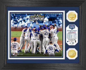 "Los Angeles Dodgers 2020 World Series Champions ""Celebration"" Bronze Coin Photo Mint"