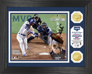 Corey Seager Los Angeles Dodgers 2020 World Series MVP Bronze Coin Photo Mint