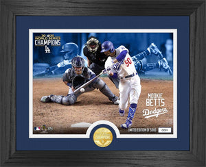 Mookie Betts Los Angeles Dodgers 2020 World Series Bronze Coin Photo Mint