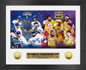 Los Angeles Lakers Championship City 2020 Bronze Coin Photo Mint