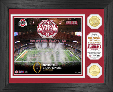 Alabama Crimson Tide 2020 CFP National Champions Celebration Bronze Coin Photo Mint