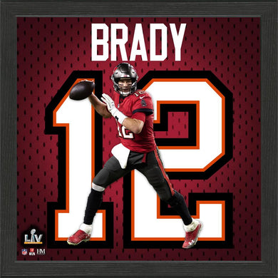 Tom Brady Tampa Bay Buccaneers Impact Jersey Framed Photo