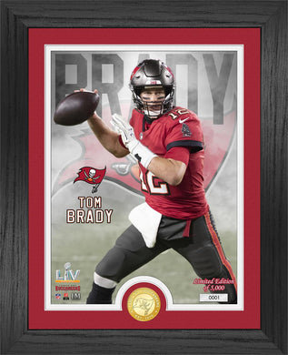 Tom Brady Tampa Bay Buccaneers Super Bowl 55 Bronze Coin Photo Mint
