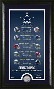 Dallas Cowboys Legacy Minted Coin Photo Mint