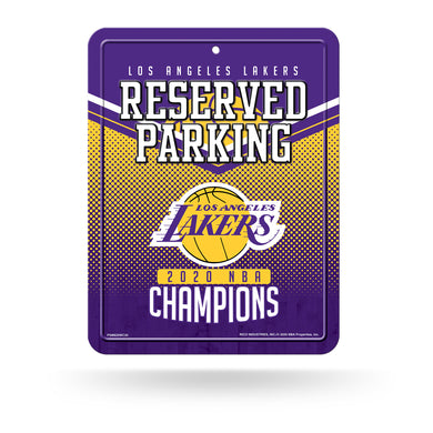 Los Angeles Lakers 2020 NBA Champs High-Res Metal Parking Sign