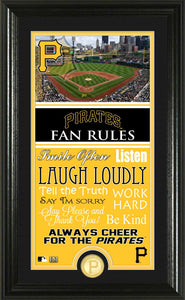 Pittsburgh Pirates Fan Rules Supreme Bronze Coin Photo Mint