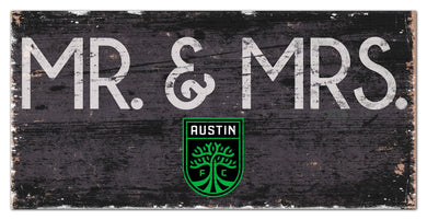 Austin FC Mr. & Mrs. Wood Sign - 6