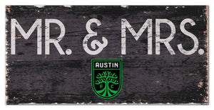 "Austin FC Mr. & Mrs. Wood Sign - 6""x12"""