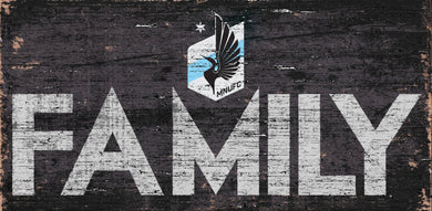 Minnesota United Family Wood Sign