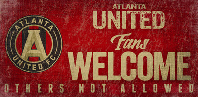 Atlanta United Fans Welcome Wood Sign