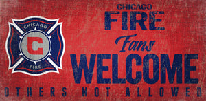 Chicago Fire Fans Welcome Wood Sign