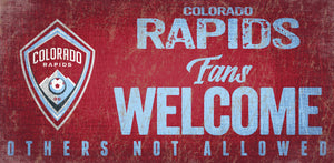 Colorado Rapids Fans Welcome Wood Sign
