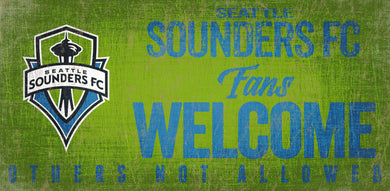 Seattle Sounders Fans Welcome Wood Sign