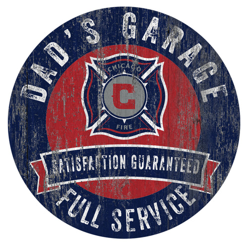 Chicago Fire Dad's Garage Sign