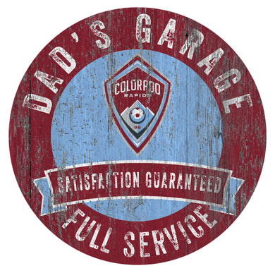 Colorado Rapids Dad's Garage Sign