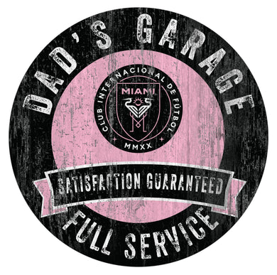 Inter Miami Dad's Garage Wood Sign