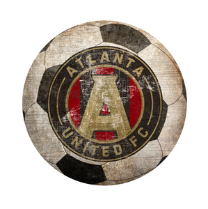 Atlanta United Soccer Ball Shaped Sign