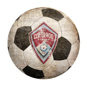 Colorado Rapids  Soccer Ball Shaped Sign