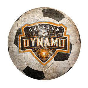 Houston Dynamo Soccer Ball Shaped Sign