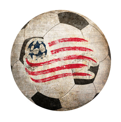 New England Revolution Soccer Ball Shaped Sign