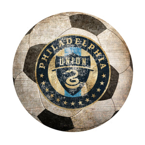 Philadelphia Union Soccer Ball Shaped Sign