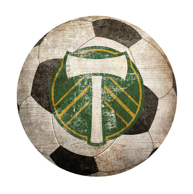 Portland Timbers Soccer Ball Shaped Sign