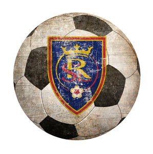 Real Salt Lake Soccer Ball Shaped Sign