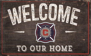 "Chicago Fire Welcome To Our Home Sign - 11""x19"""