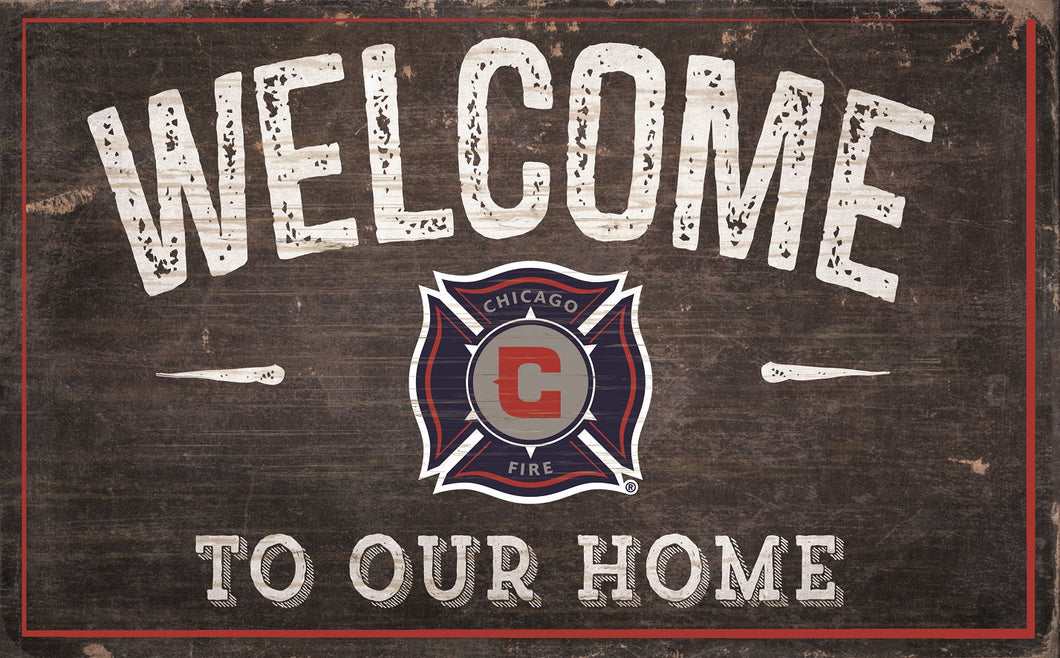 Chicago Fire Welcome To Our Home Sign - 11