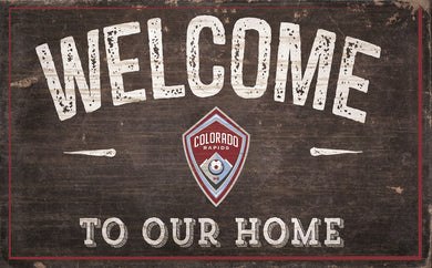Colorado Rapids Welcome To Our Home Sign - 11
