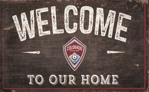 "Colorado Rapids Welcome To Our Home Sign - 11""x19"""