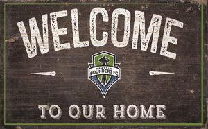 "Seattle Sounders Welcome To Our Home Sign - 11""x19"""