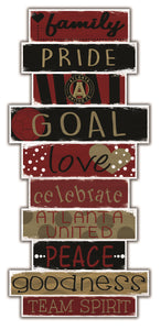 Atlanta United Celebrations Stack Wood Sign -24""