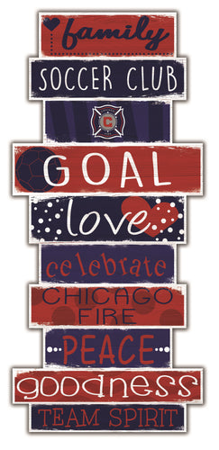 Chicago Fire Celebrations Stack Wood Sign -24