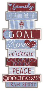 Colorado Rapids Celebrations Stack Wood Sign -24""