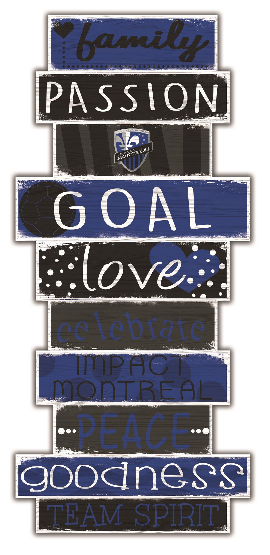 Montreal Impact Celebrations Stack Wood Sign -24