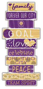 Orlando City Celebrations Stack Wood Sign -24""