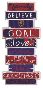 Real Salt Lake Celebrations Stack Wood Sign