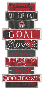 Toronto FC Celebrations Stack Wood Sign