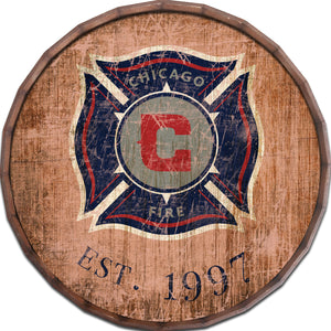 Chicago Fire Established Date Barrel Top - 24""