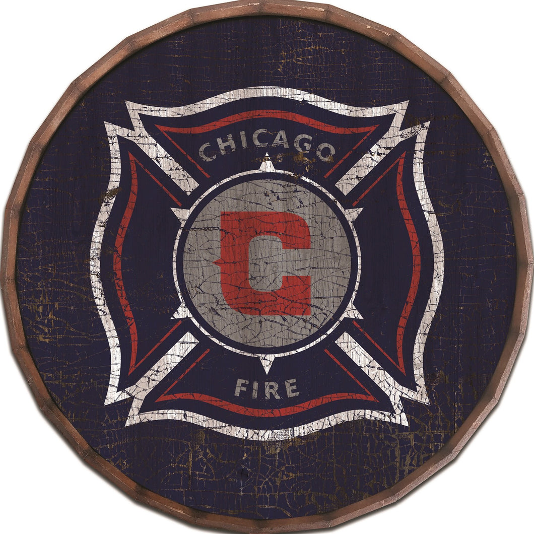 Chicago Fire Cracked Color Barrel Top - 24