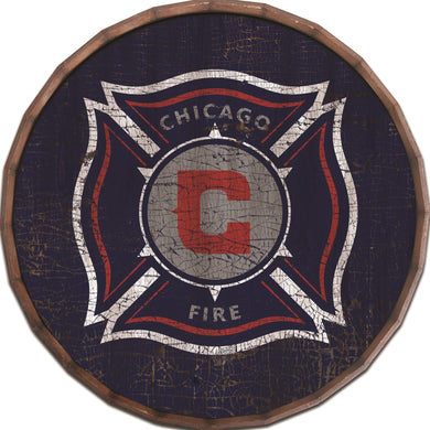 Chicago Fire Cracked Color Barrel Top - 16