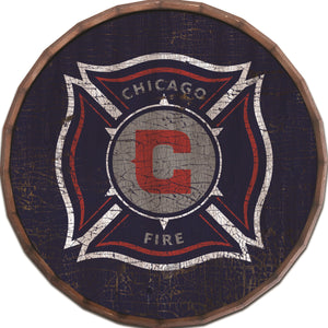 Chicago Fire Cracked Color Barrel Top - 16""