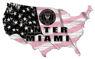 Inter Miami CF USA Shape Wood Sign