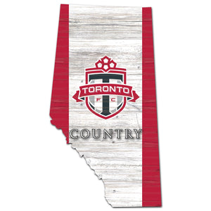 Toronto FC USA Shape Wood Sign