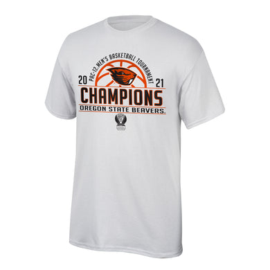 Oregon State Beavers 2021 PAC 12 Basketball Tournament Champions Locker Room Shirt
