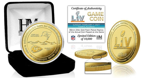 Kansas City Chiefs vs Tampa Bay Buccaneers Super Bowl 55 Gold Flip Coin