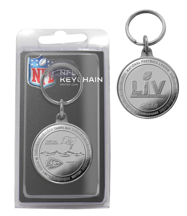 chiefs and buccaneers super bowl 55 keychain