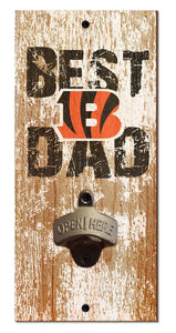 Cincinnati Bengals Best Dad Bottle Opener